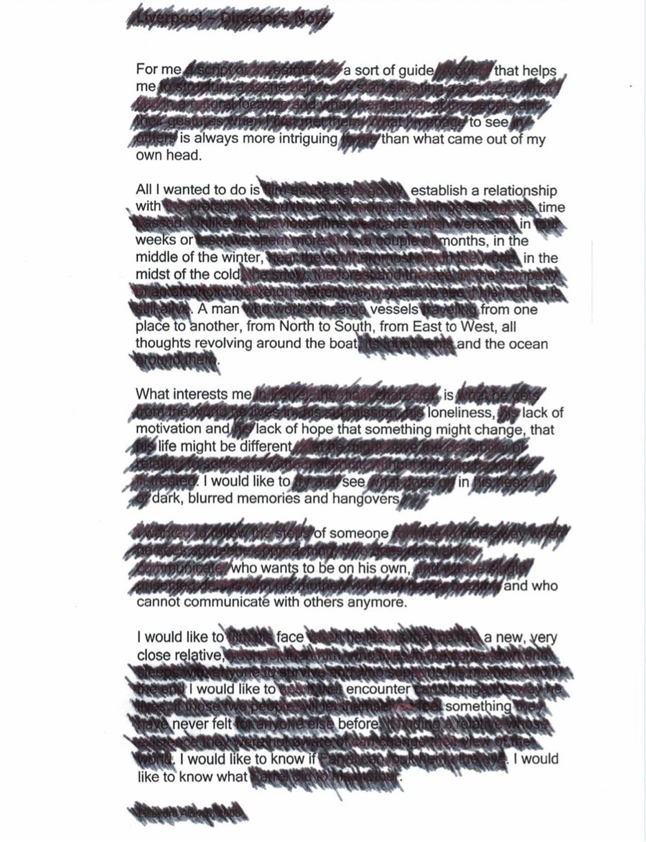 Erasure Poem: I Would Like to Know