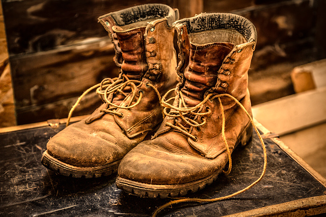 6a6352ac3cb6 Tired Old Boots. I did a lot of traveling last year. And by that I do mean